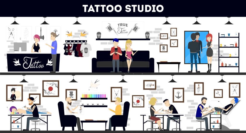 como poner un Tattoo studio