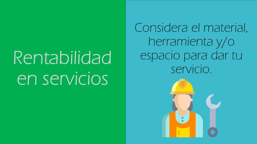 rentabilidad en servicios