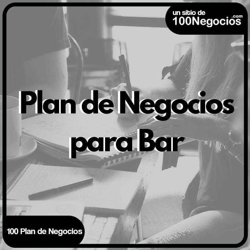 plan de negocio para un bar pdf